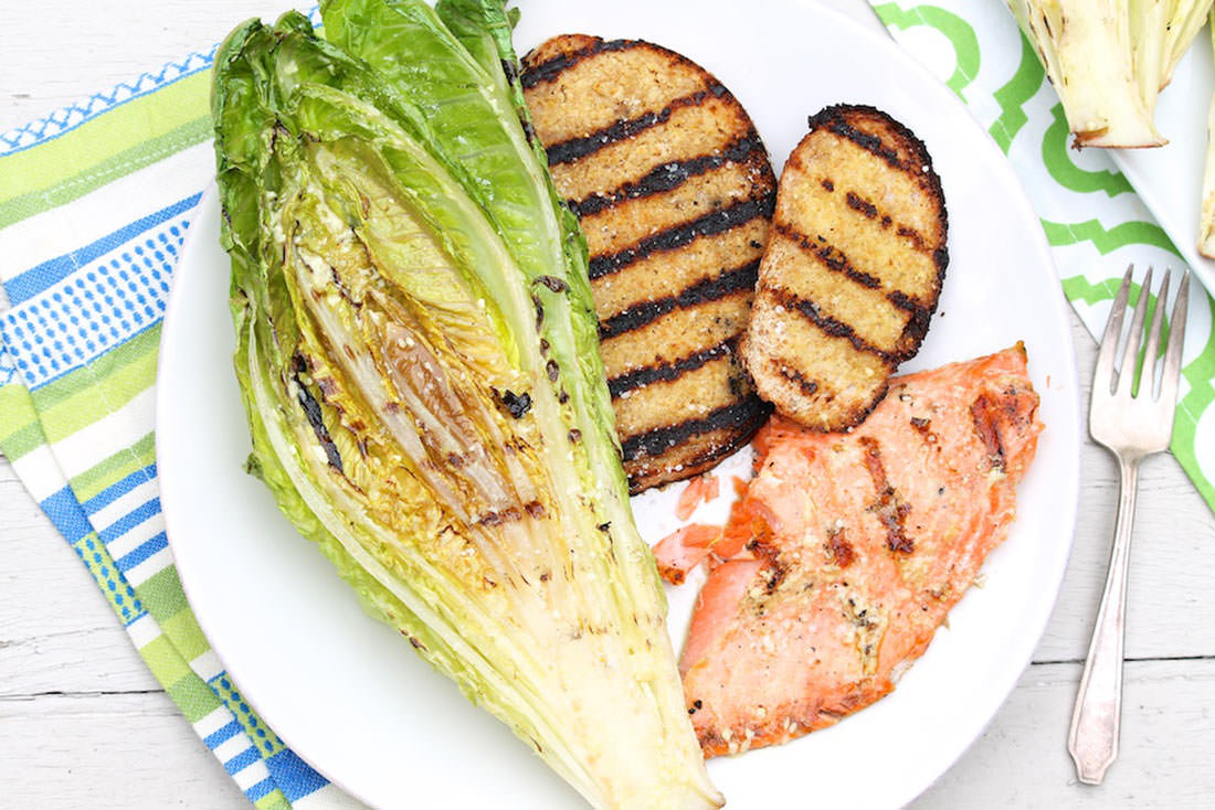 Grilled Caesar Salads... with easy options for a complete meal