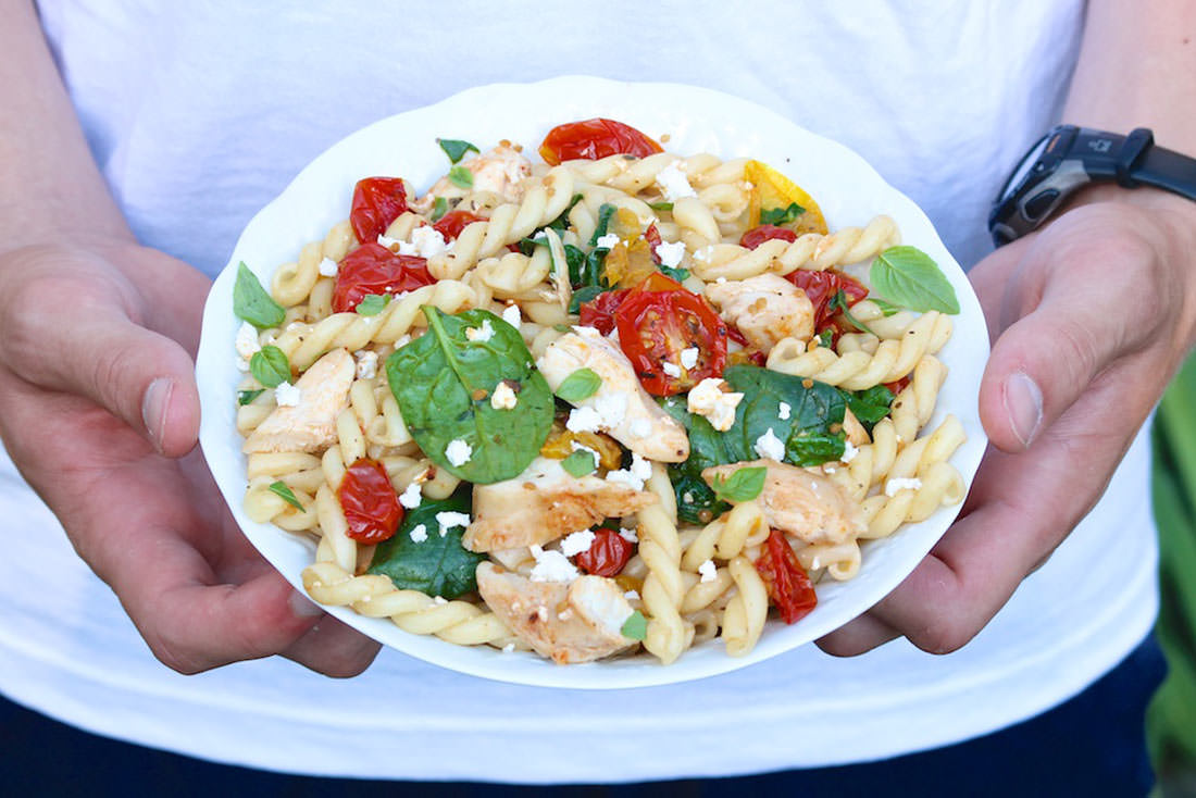 Easy pasta dish using Slow Roasted Cherry or Grape Tomatoes