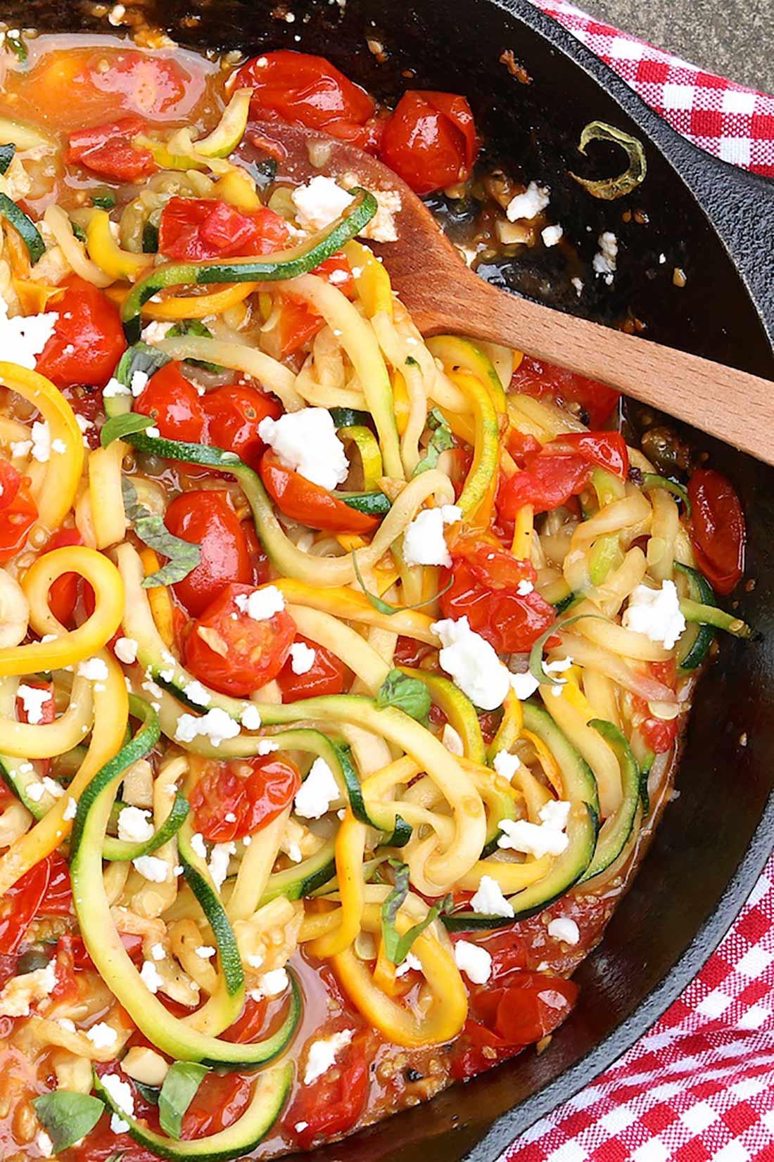 Zucchini Noodles in Rustic Tomato Sauce
