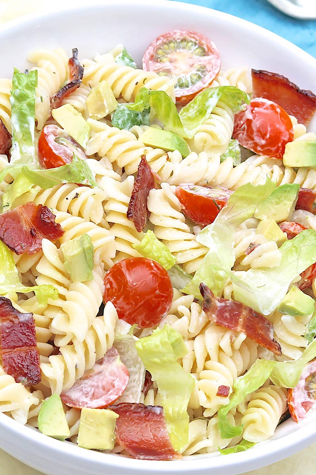 BLT Pasta Salad with Avocado