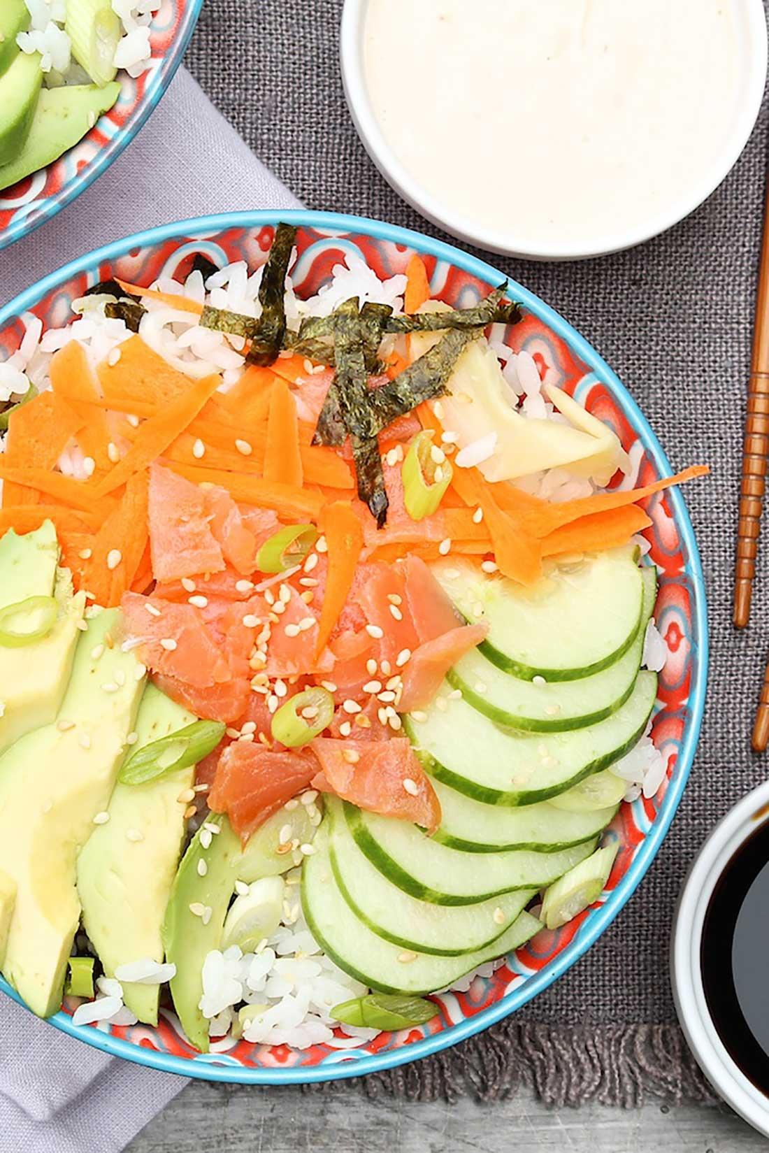 California Roll Sushi Bowls