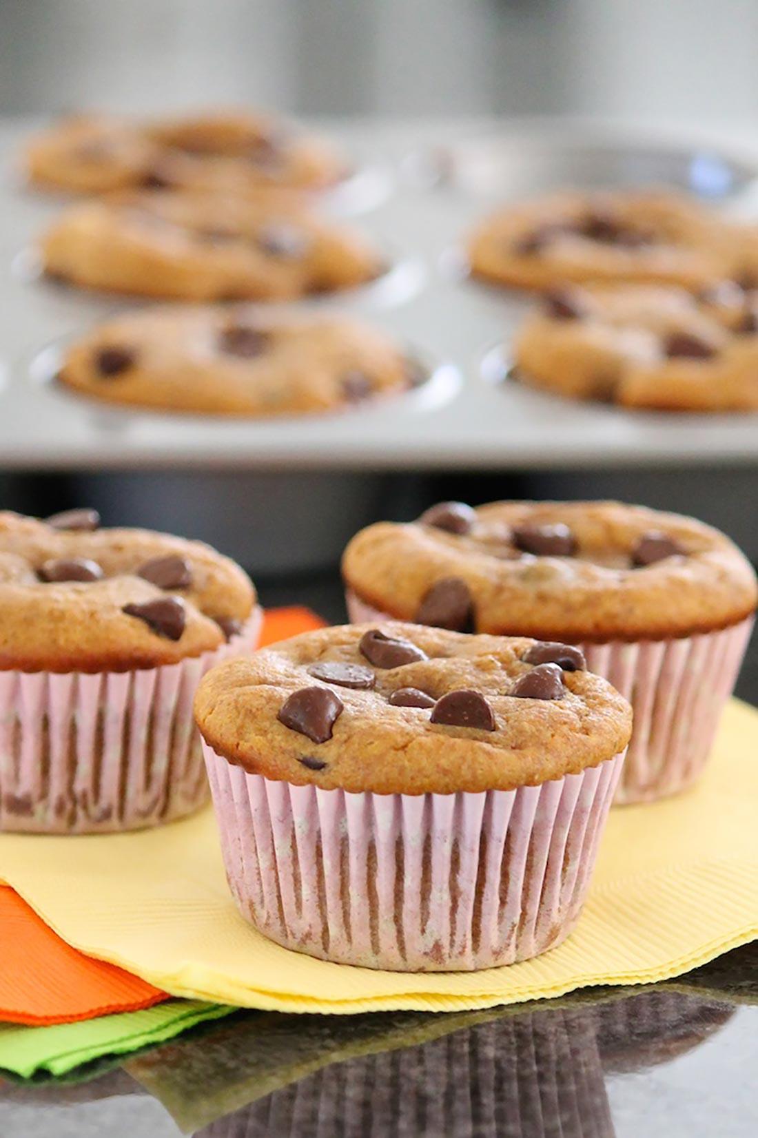 Chocolate Chip Pumpkin Muffins (grain-free)