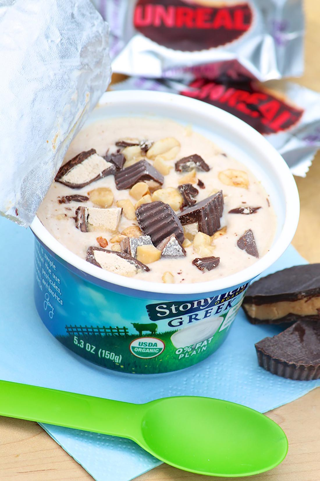 1-Minute Peanut Butter Cup Greek Yogurt