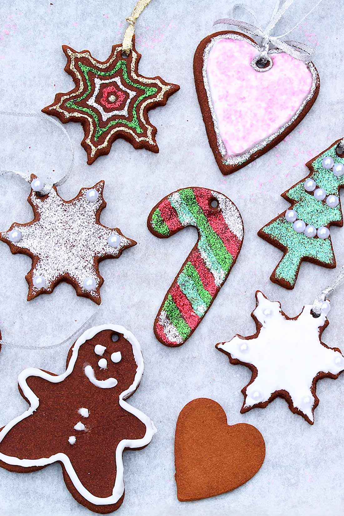 3-Ingredient Cinnamon Ornaments
