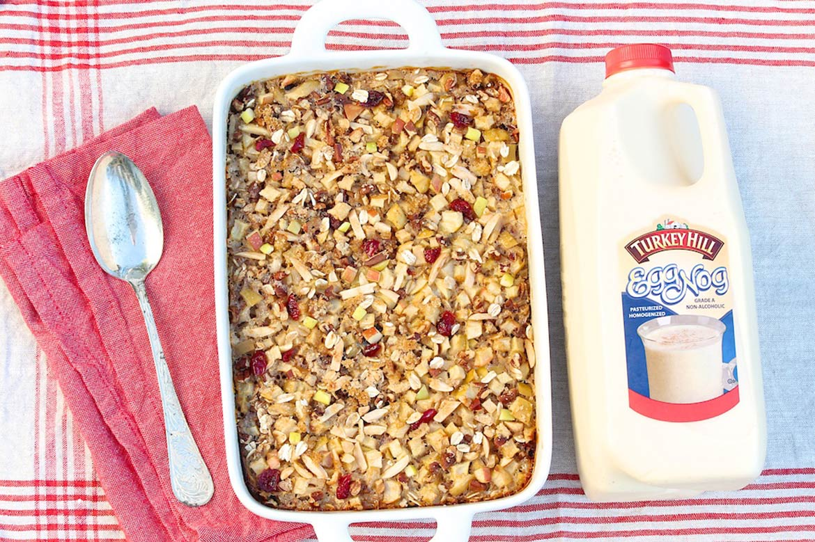 Apple Crisp Baked Oatmeal, Holiday Style — The Fountain Avenue ...