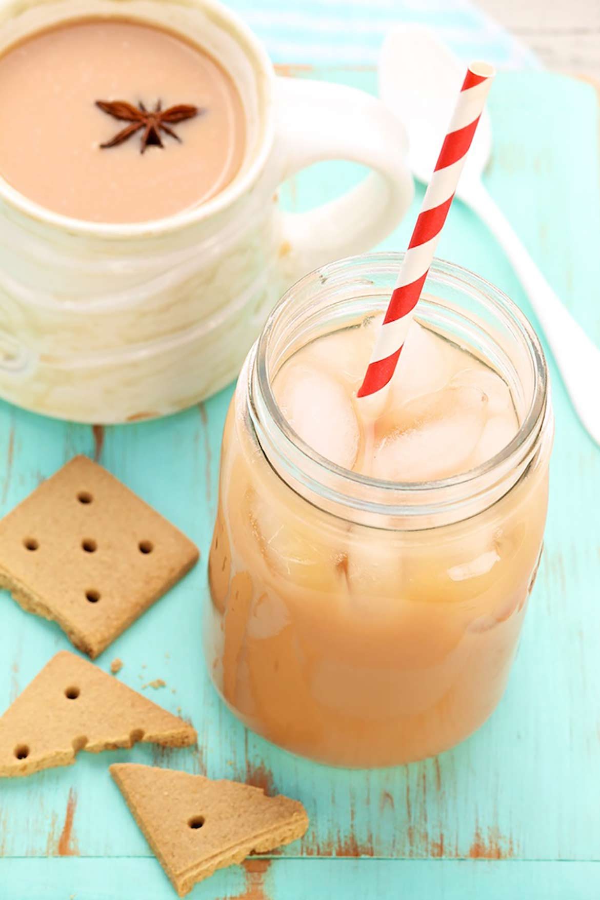 Make-ahead concentrate tastes better than what you often get in a fancy cafe and for a fraction of the price. Perfect for hot and cold chai lattes whenever a craving hits!