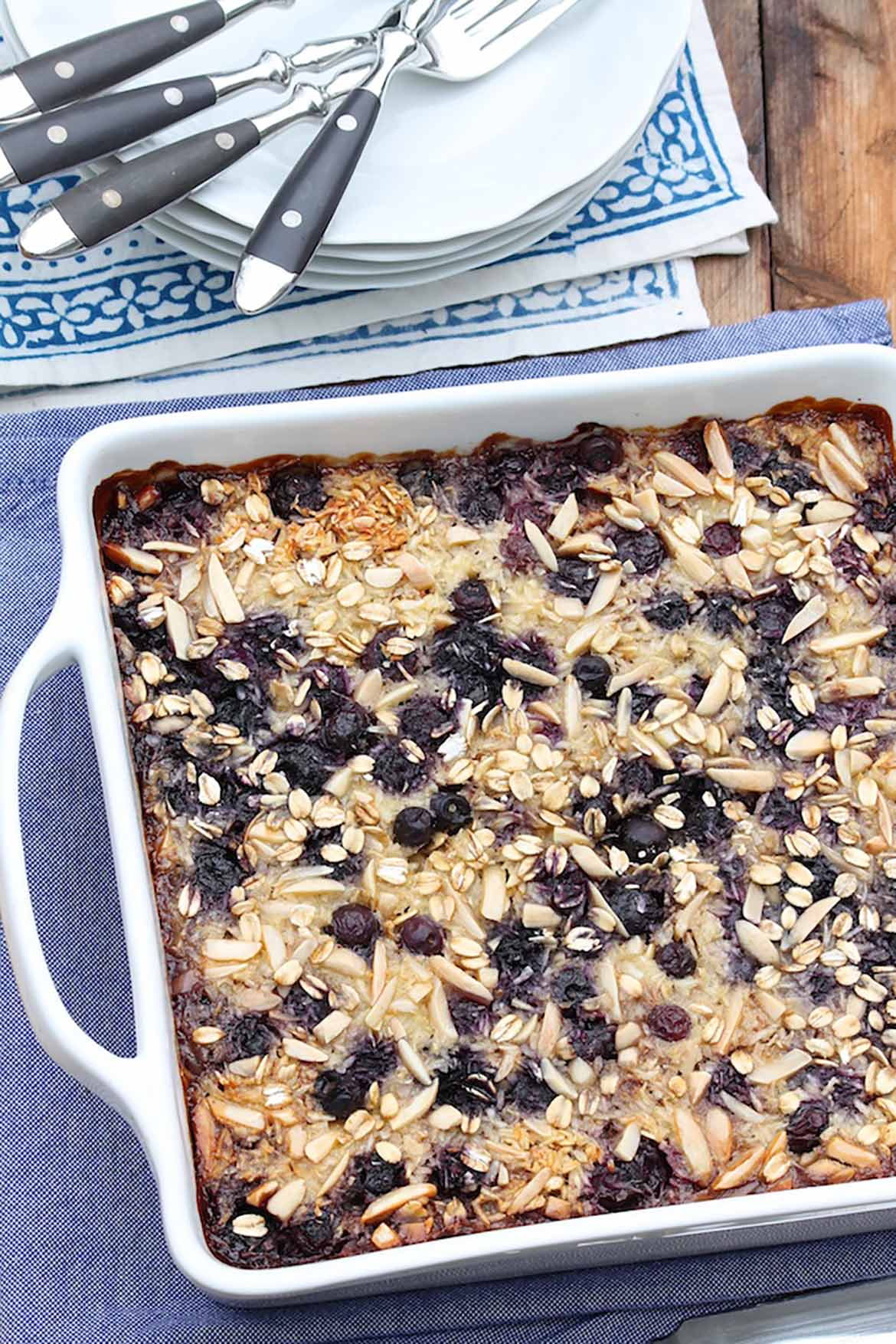 For added ease, prepare this filling casserole the night before and gently reheat in the morning. Serve as is or with a dollop of Greek yogurt or a drizzle of milk. If you don't care for coconut, simply omit it from the recipe.