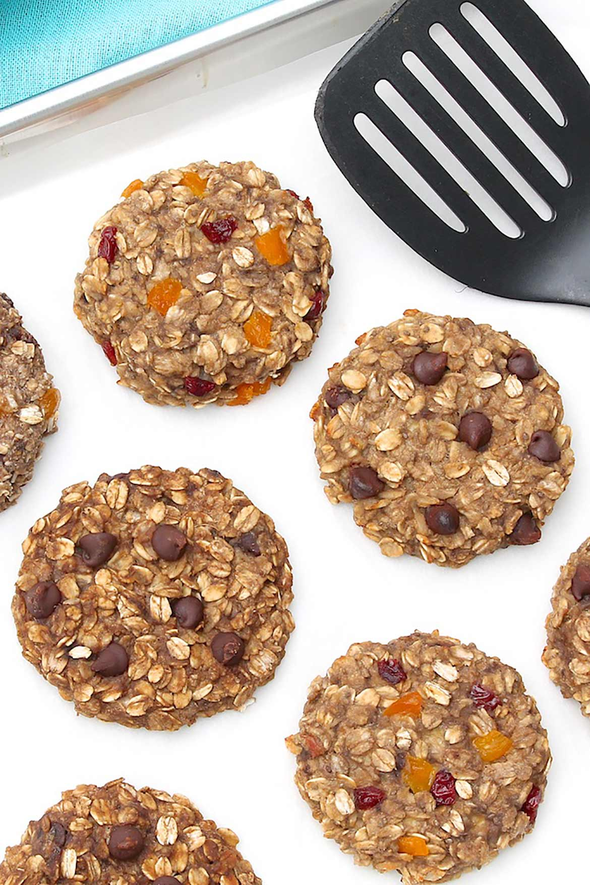 An ideal way to use overripe bananas, these wholesome cookies mix up in a minute or two in a single bowl, and a variety of optional add-ins allows them to be customized according to personal preference.