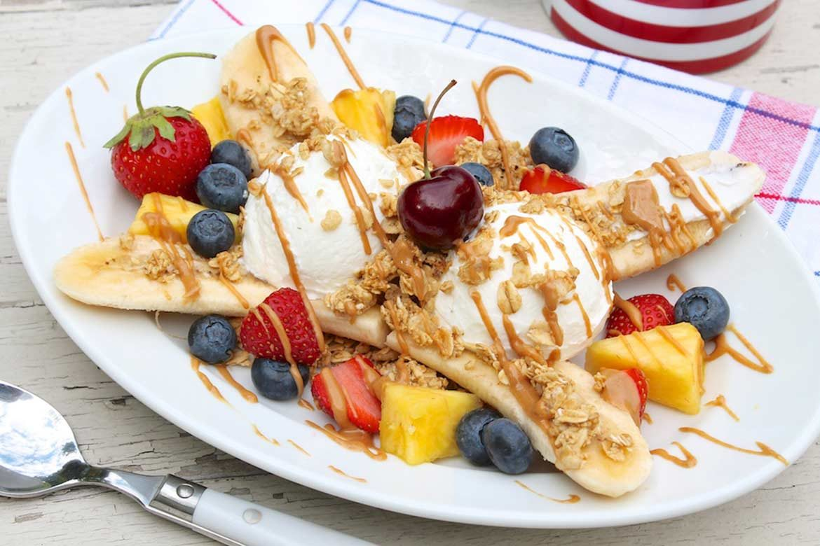 Breakfast Banana Split — The Fountain Avenue Kitchen