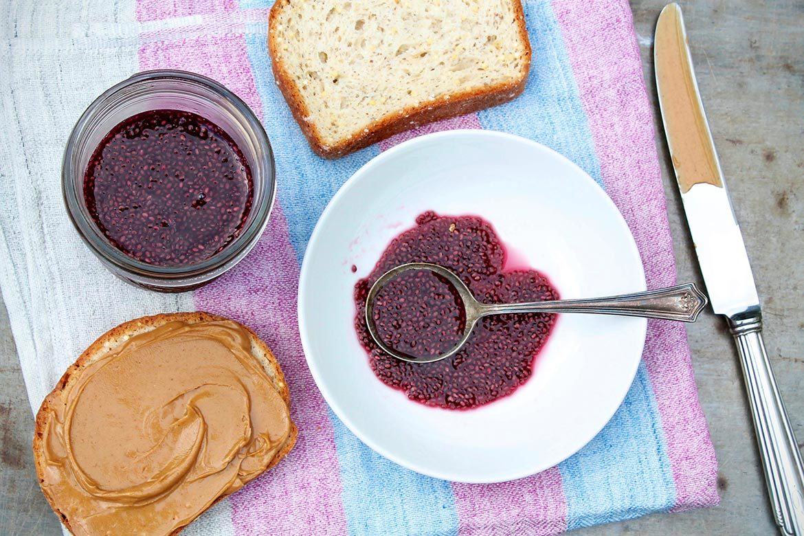 2-Ingredient No-Cook Chia Jam --  Two easy ingredients create a sugar- and syrup-free alternative to the ever-popular chia jam!