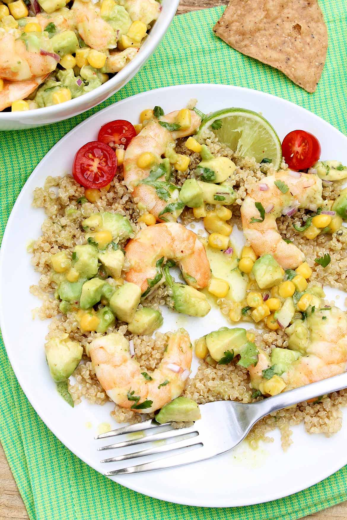 Effortless to pull together with a gourmet feel, Honey Lime Shrimp with Avocado & Corn is a go-to entertaining option yet easy enough for busy weeknights.  Light and healthy, too!