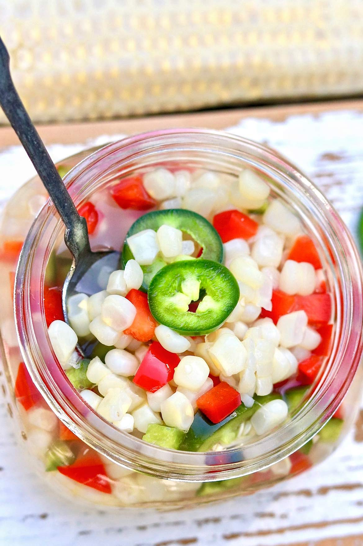 Quick Pickled Corn -- an easy-to-make condiment that willperk up burgers, tacos, andsalads...and it tastes great by the spoonful, too!