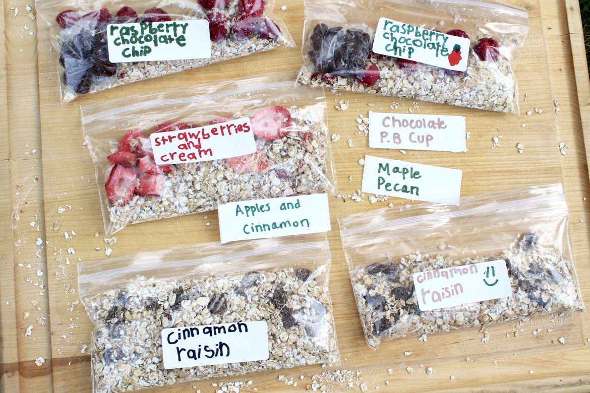 Homemade Instant Oatmeal Packets ~ Mix and match anextensive list of options to create healthy and economical alternatives to the store-bought packets. Kid- and adult-friendly!