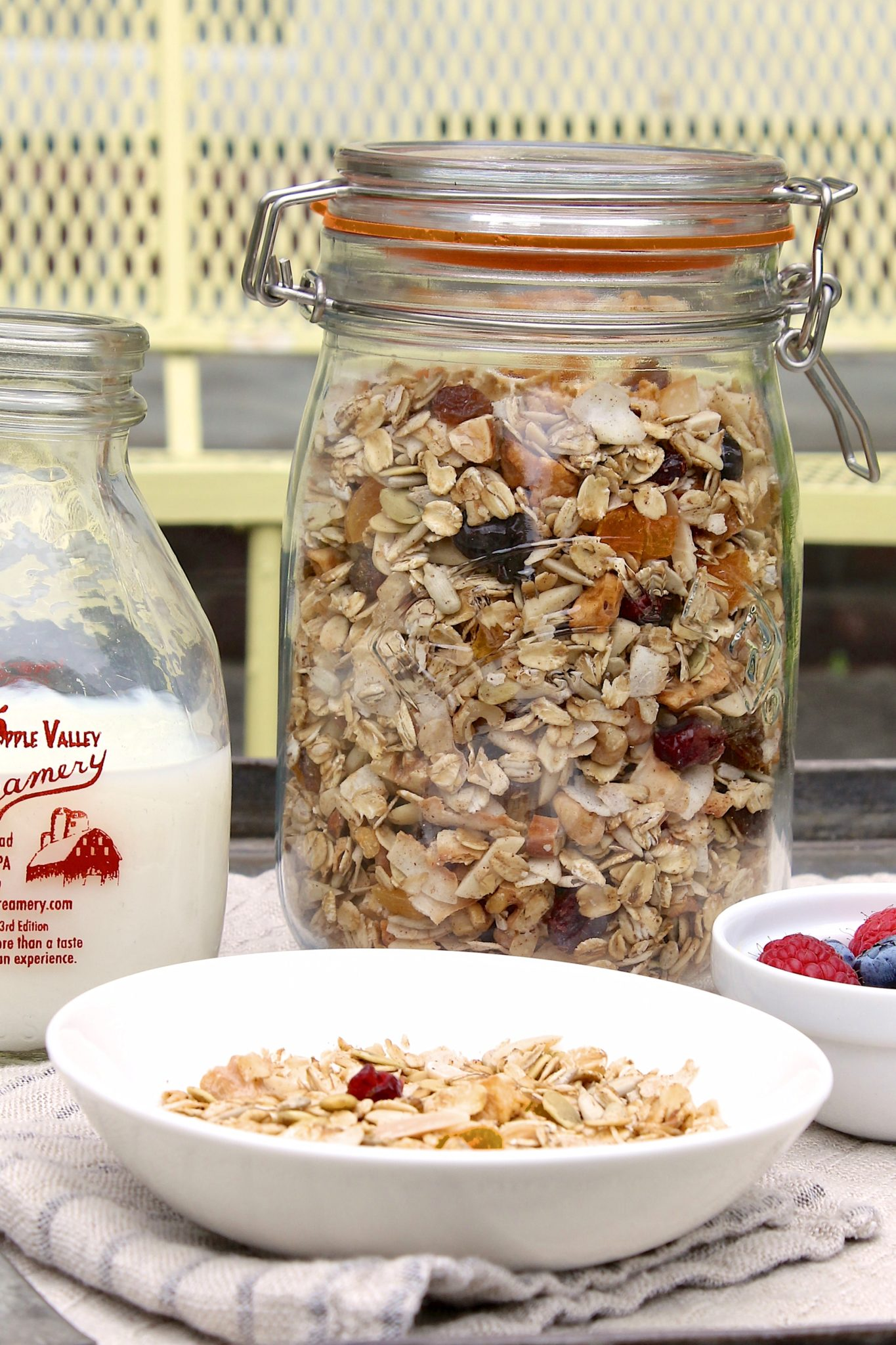 Toasted Maple Muesli is all you need for quick, healthy, satisfying breakfasts every day of the week — andjust like granola, this muesli tastes good enough to eat all by itself!