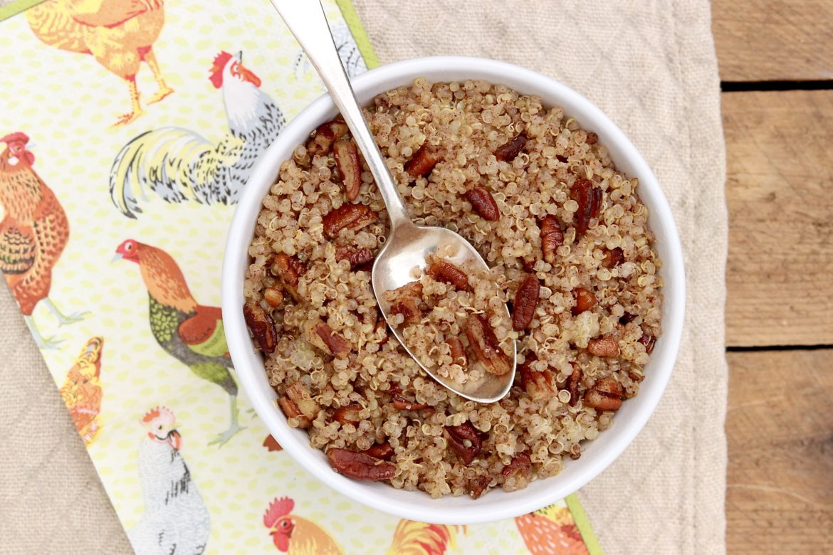 Cinnamon Toast Breakfast Quinoa ~ A favorite childhood breakfast cereal is all grown up and offers a healthy and delicious way to start the day!