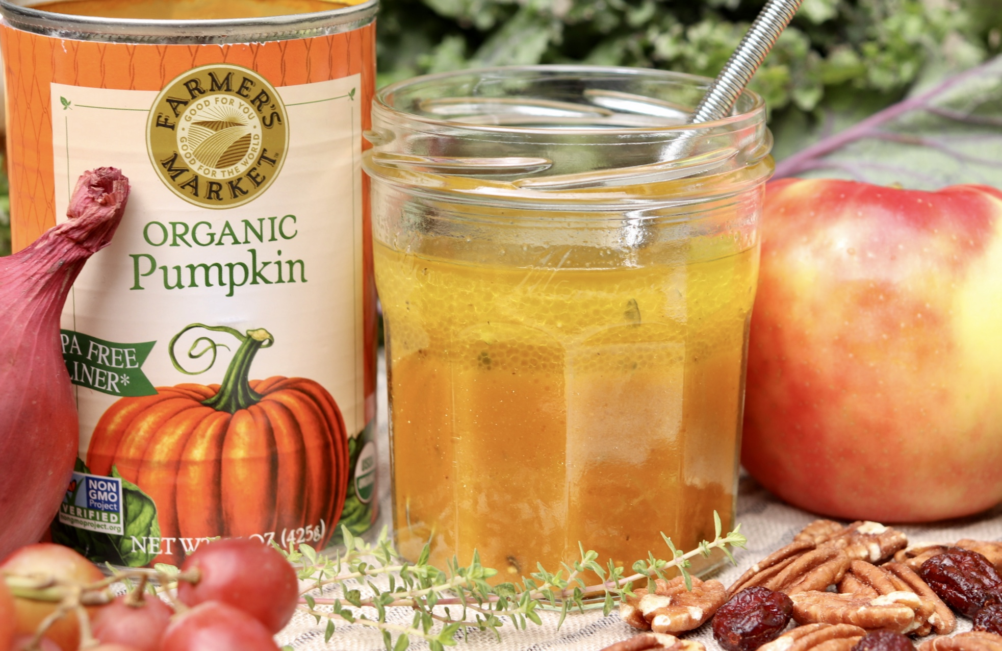 Pumpkin Maple Vinaigrette – Light but flavorful and super speedy, this versatile dressing makes great use of leftover canned pumpkin and might just become a new favorite!