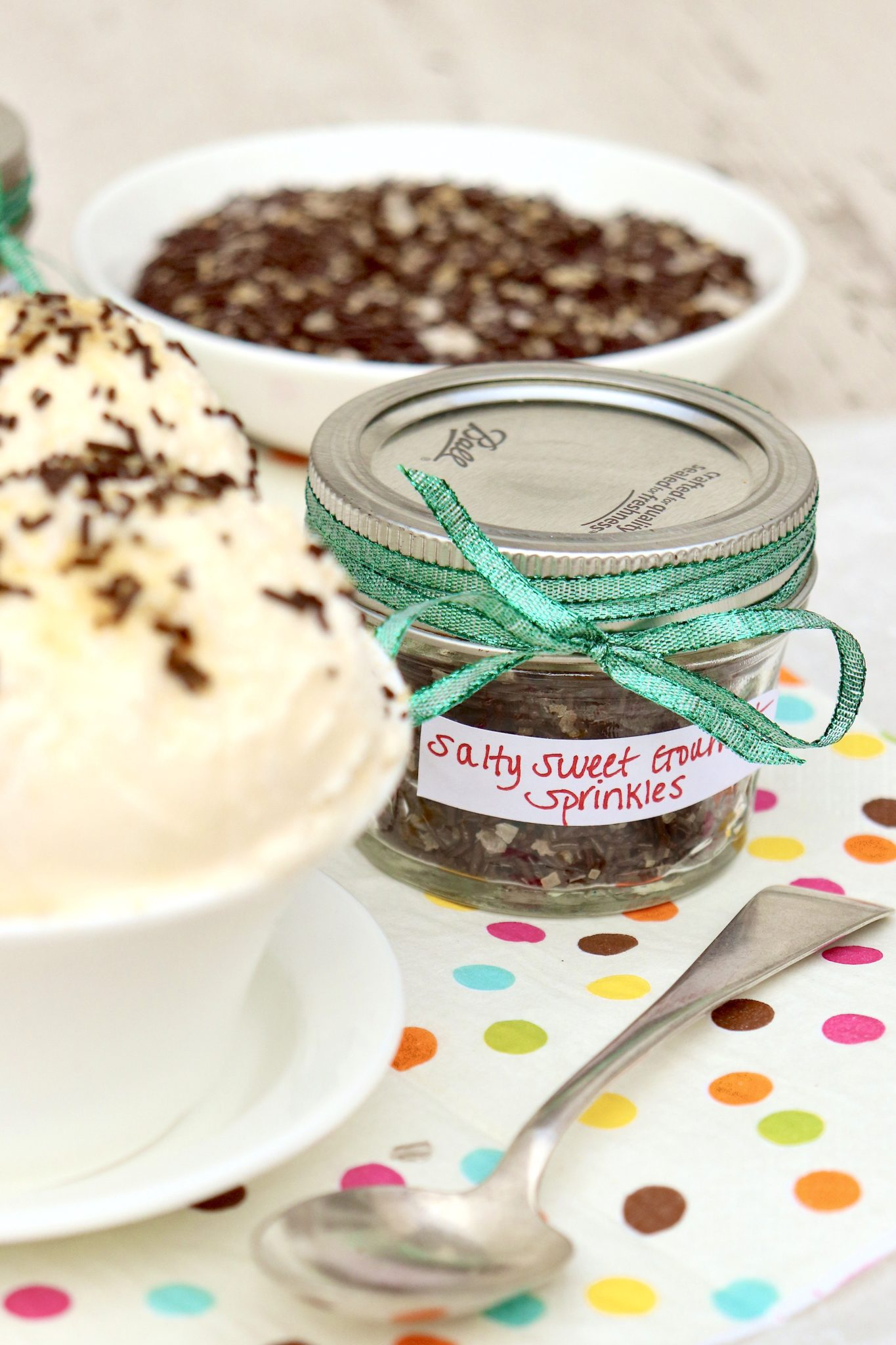 Sprinkles are no longer just for kids thanks to this salty-sweet upgrade! Perfect for gift giving and use on ice cream, hot cocoa, lattes, cookies and more.