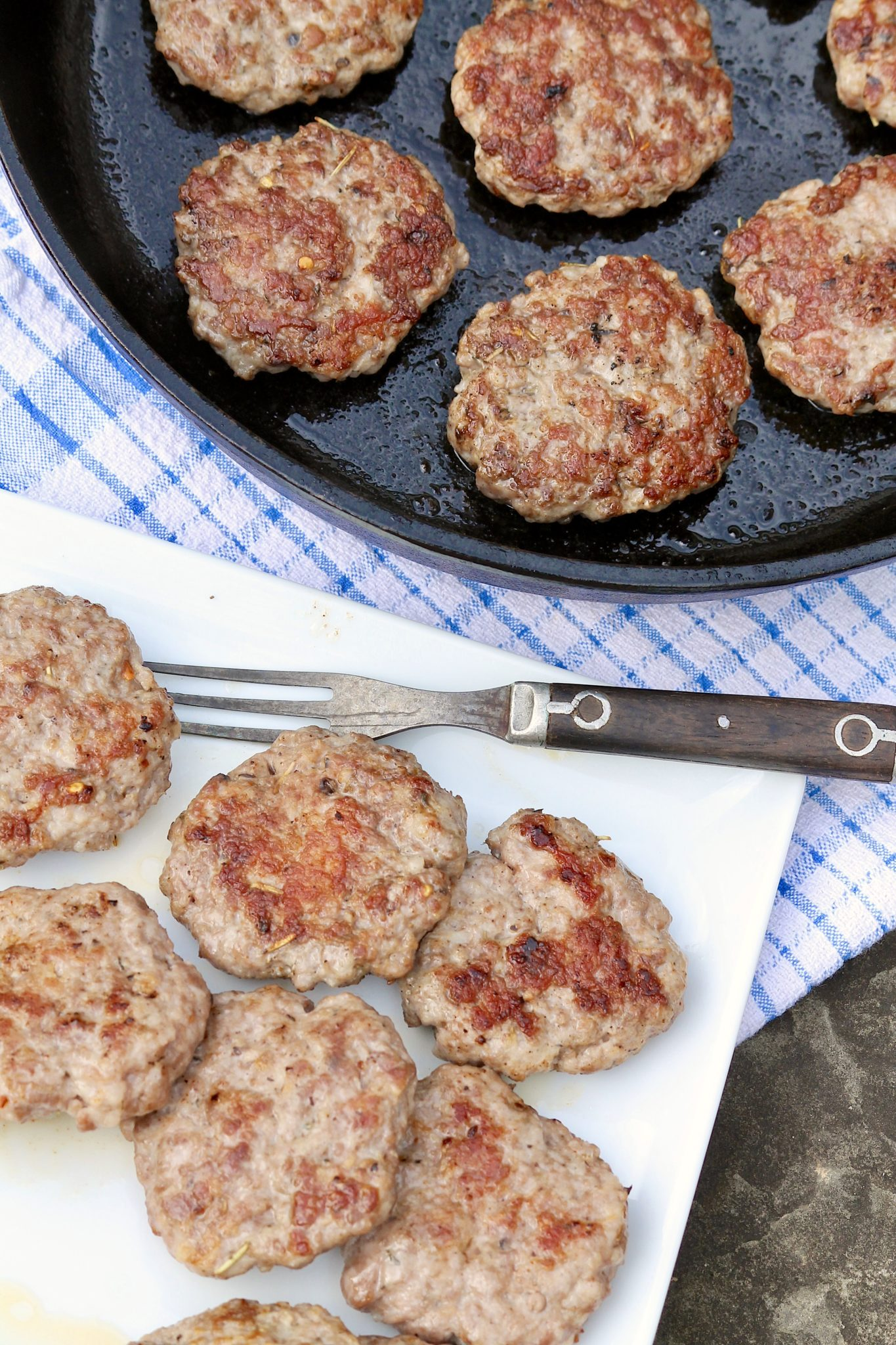Love sausage but trying to eat healthier? Ground pork and a short list of spices create a healthy alternative to sausage that can be used in so many ways. Works with ground turkey, too!