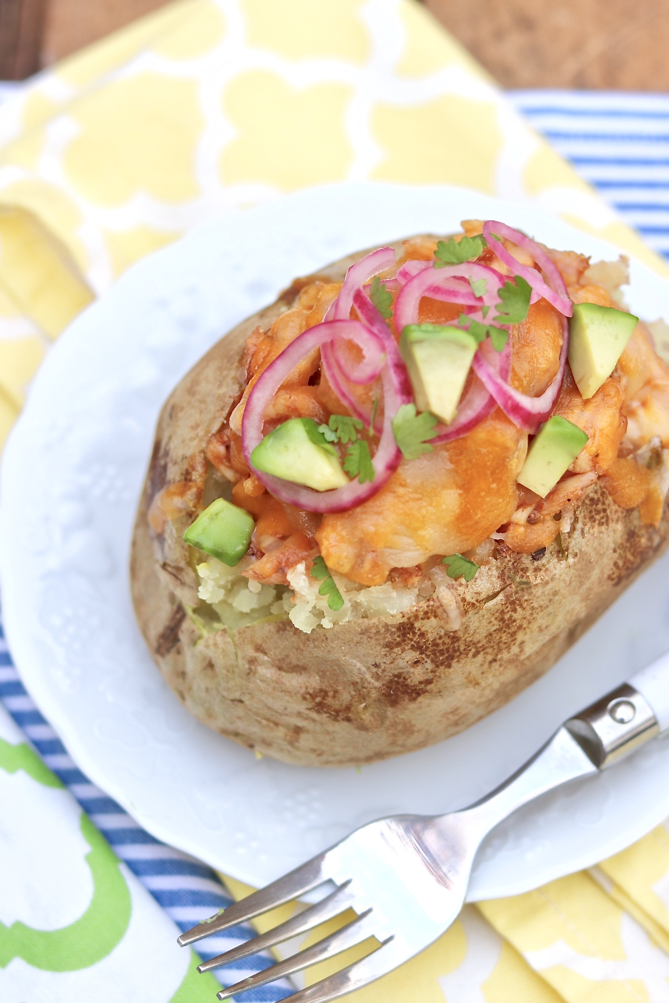 BBQ Chicken Stuffed Potatoes - The easiest of meals also happens to be hearty, healthy and endlessly adaptable.