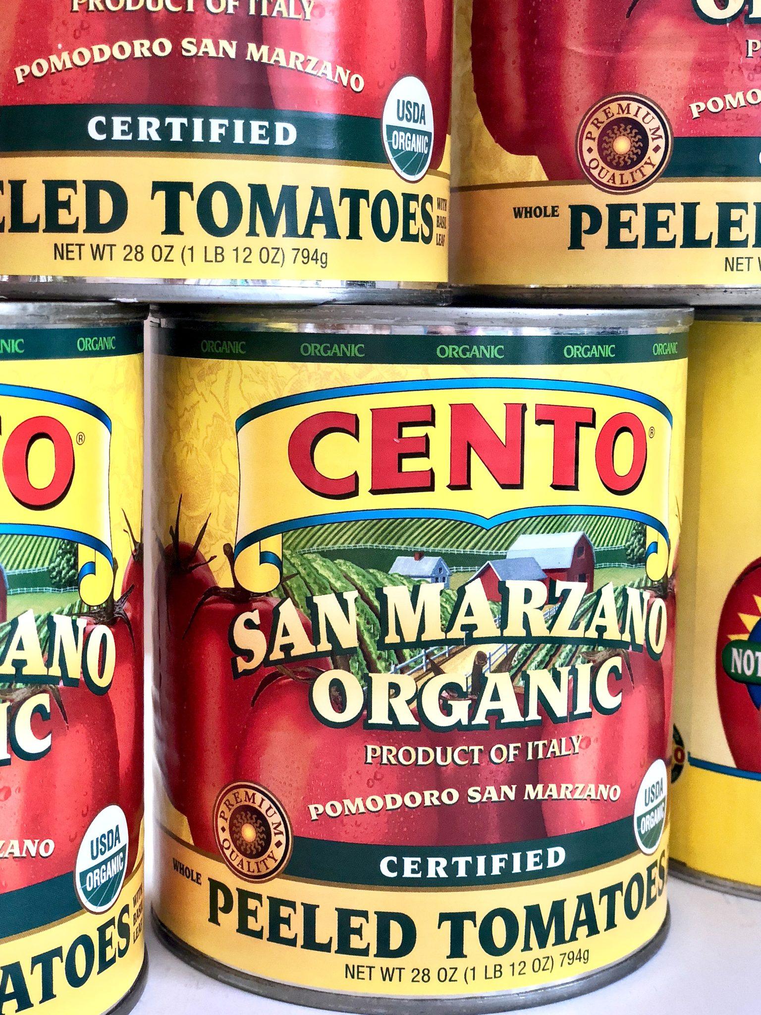 San Marzano tomatoes for Quick Classic Marinara Sauce
