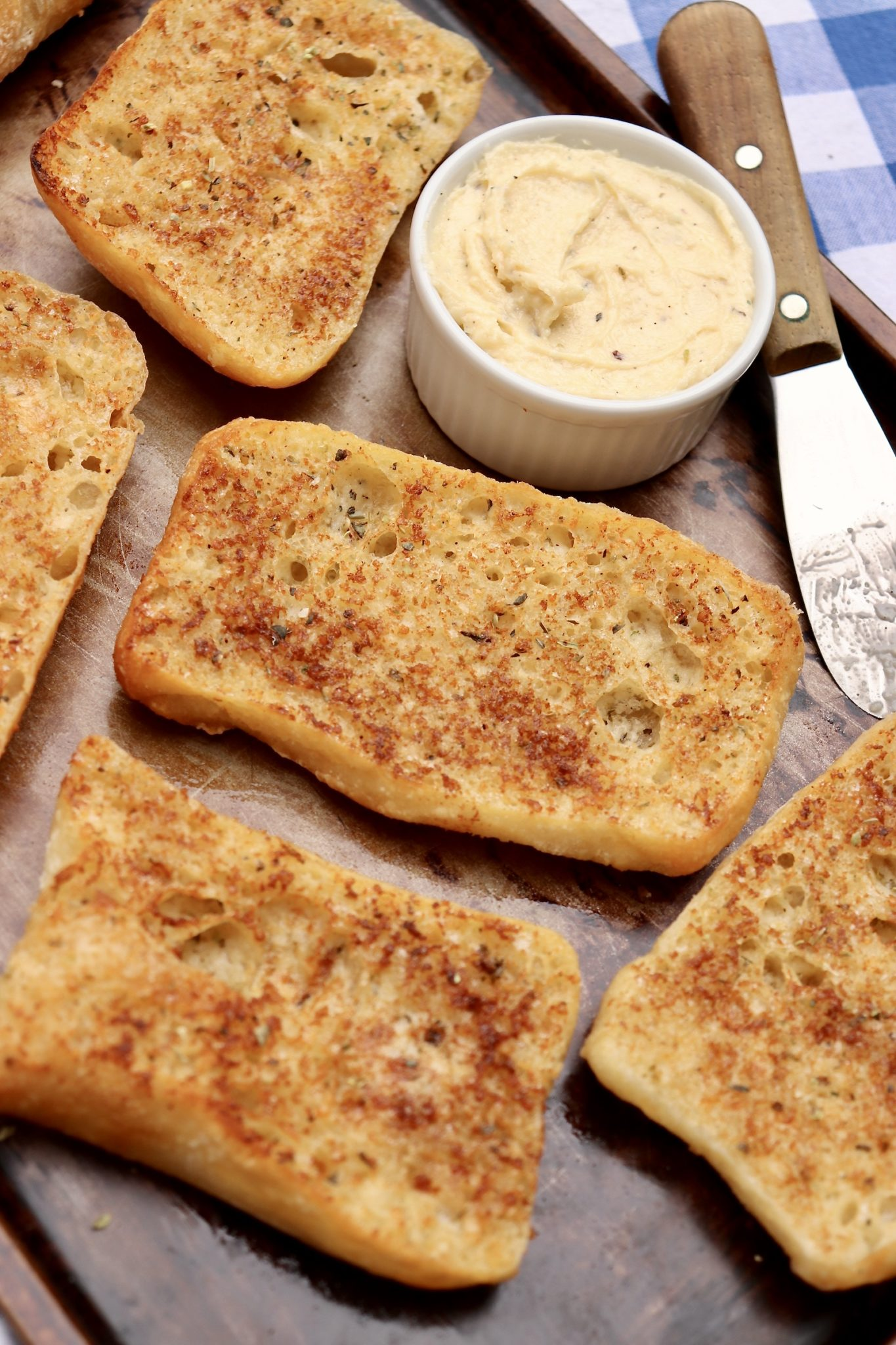 Parmesan Garlic Bread-One special ingredient makes for golden brown garlic bread that's destined to become a favorite. Can be used on a variety of breads, too!