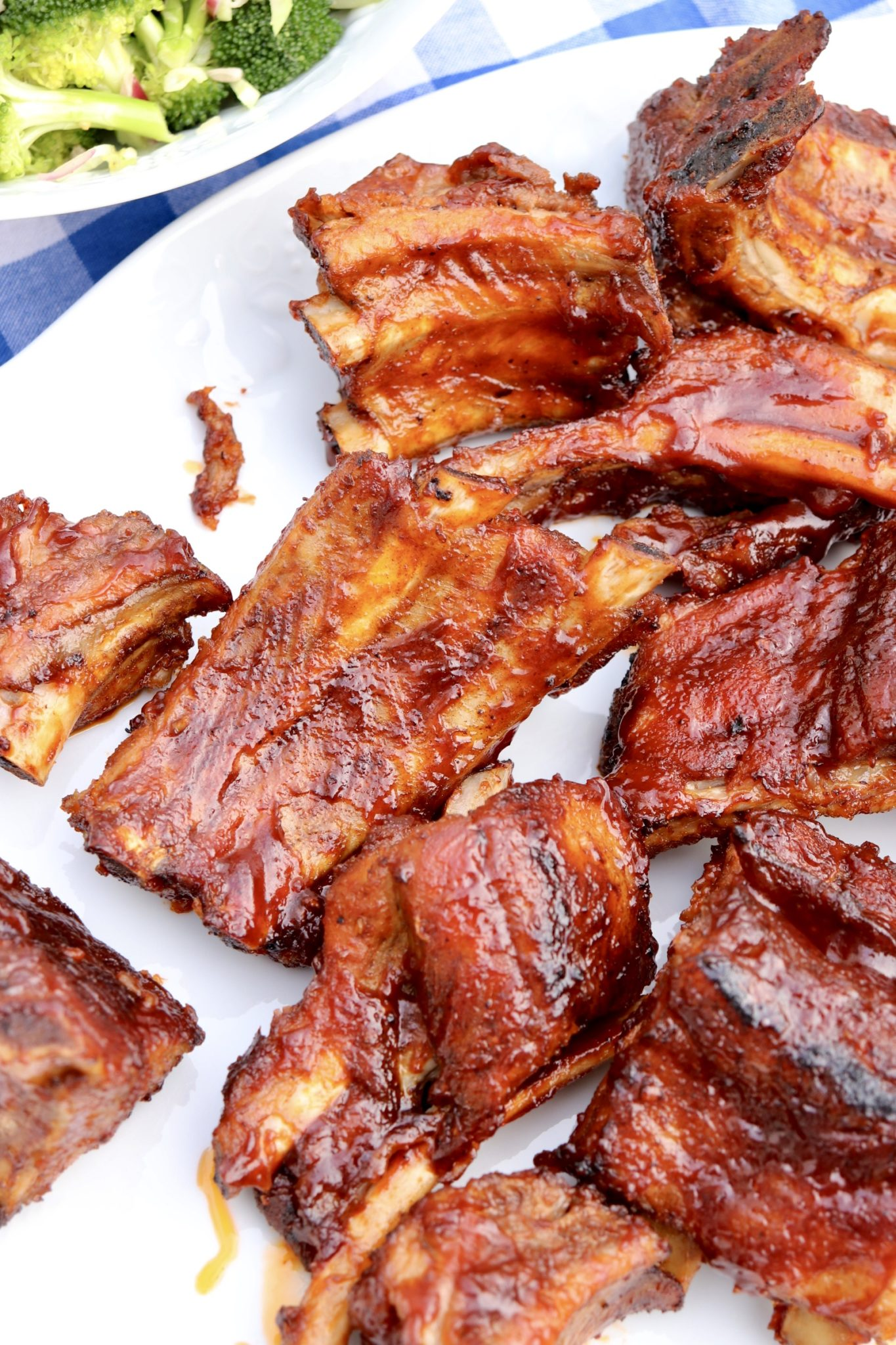 Oven Baked BBQ Ribs-Melt-in-your mouth ribs with crispy edges are a breeze to prepare  with this easy recipe!