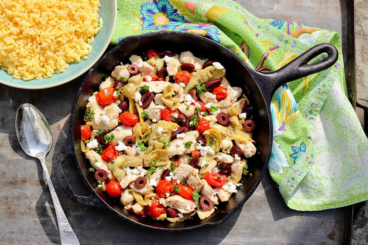 A quick and easy skillet meal that relies on pantry staples, this flexible recipe is a gift on busy evenings and 100% worthy of company.
