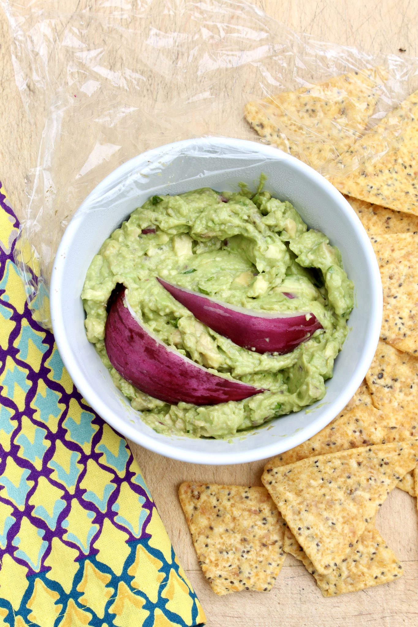 BEST TIP EVER to prevent browning of leftover guacamole or part of an avocado