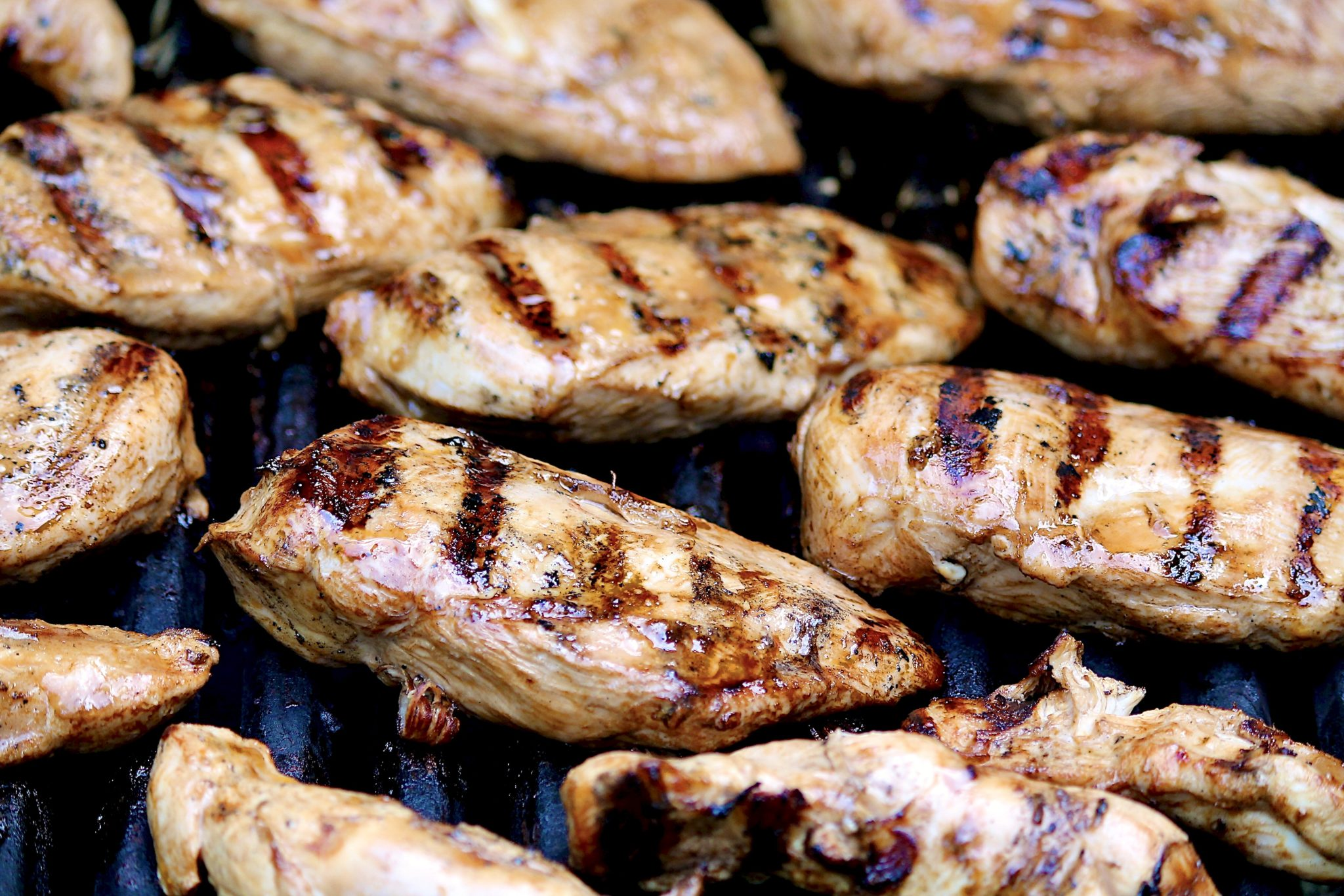 Equal parts of 3 simple ingredients make the best marinade for grilled chicken (and salmon and veggies!)