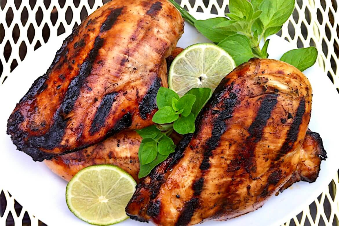 A few simple ingredients come together in a snap for flavorful chicken that grills to caramelized perfection. I like to cook more than I need the first night for deliciously quick dinners later in the week!