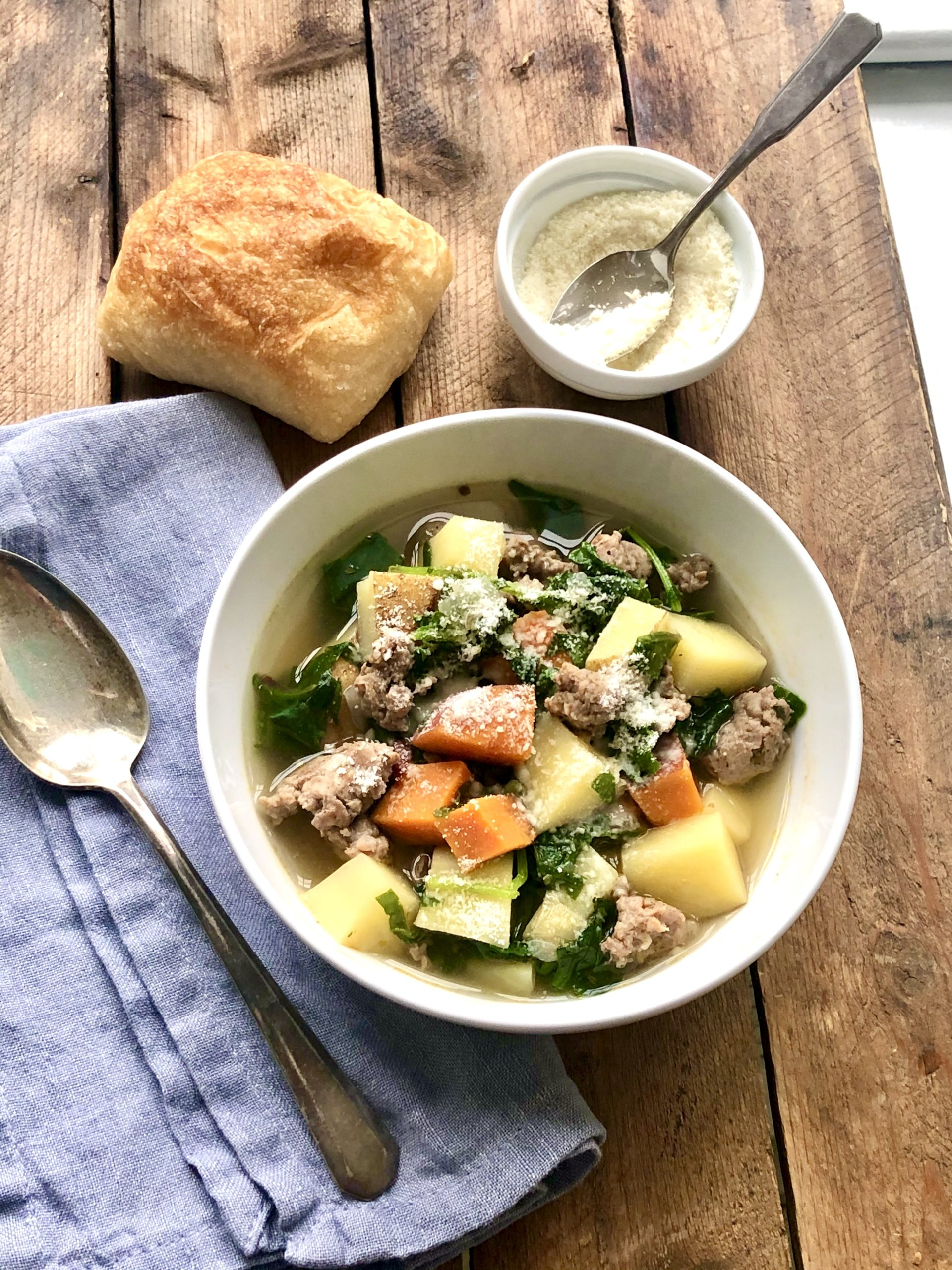 Quick to make with minimal ingredients, this soup is comfort food that pulls double duty as a complete, nourishing meal. Perfect for the weekly rotation with built-in flexibility!