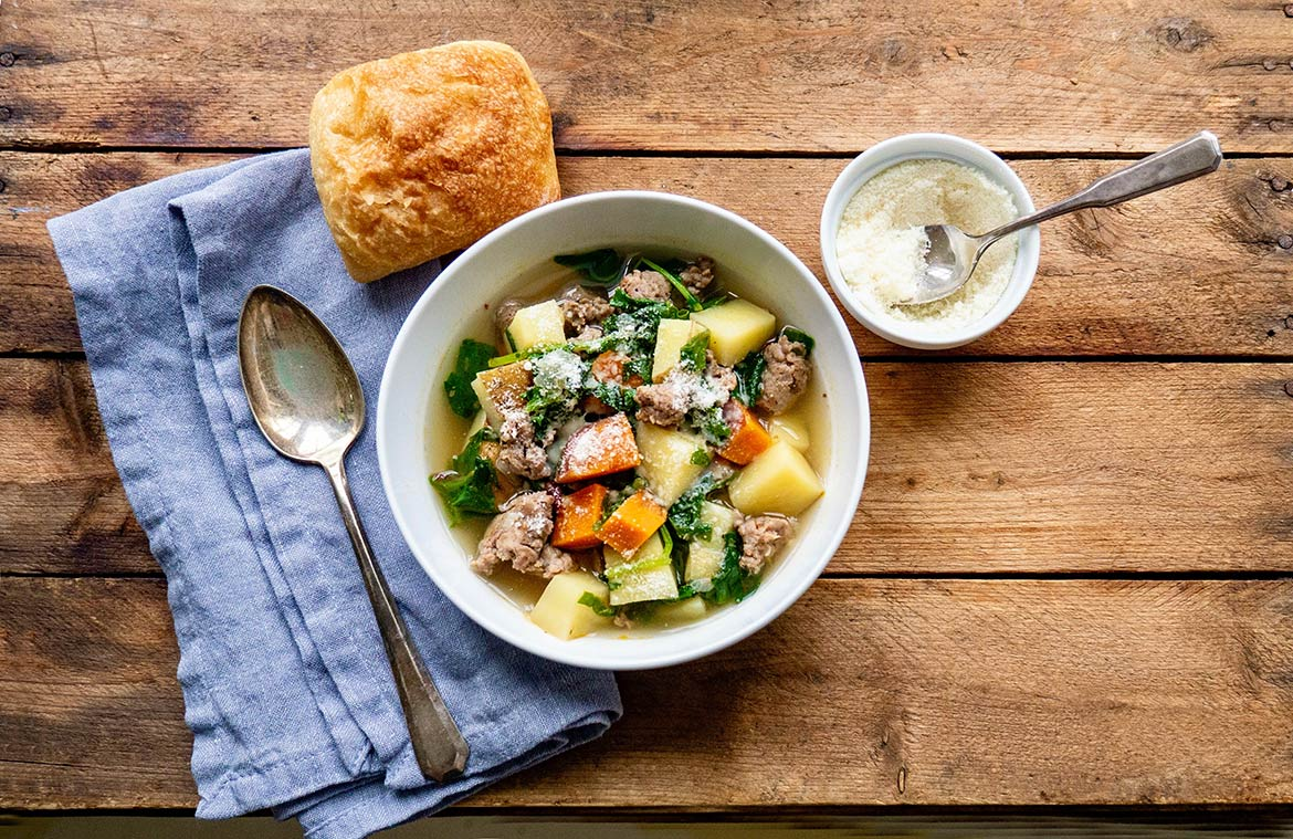 Quick to make with minimal ingredients, this soup is nourishing comfort food at its best. A complete meal on its own, the soup is perfect for the weekly rotation and comes with built-in flexibility!