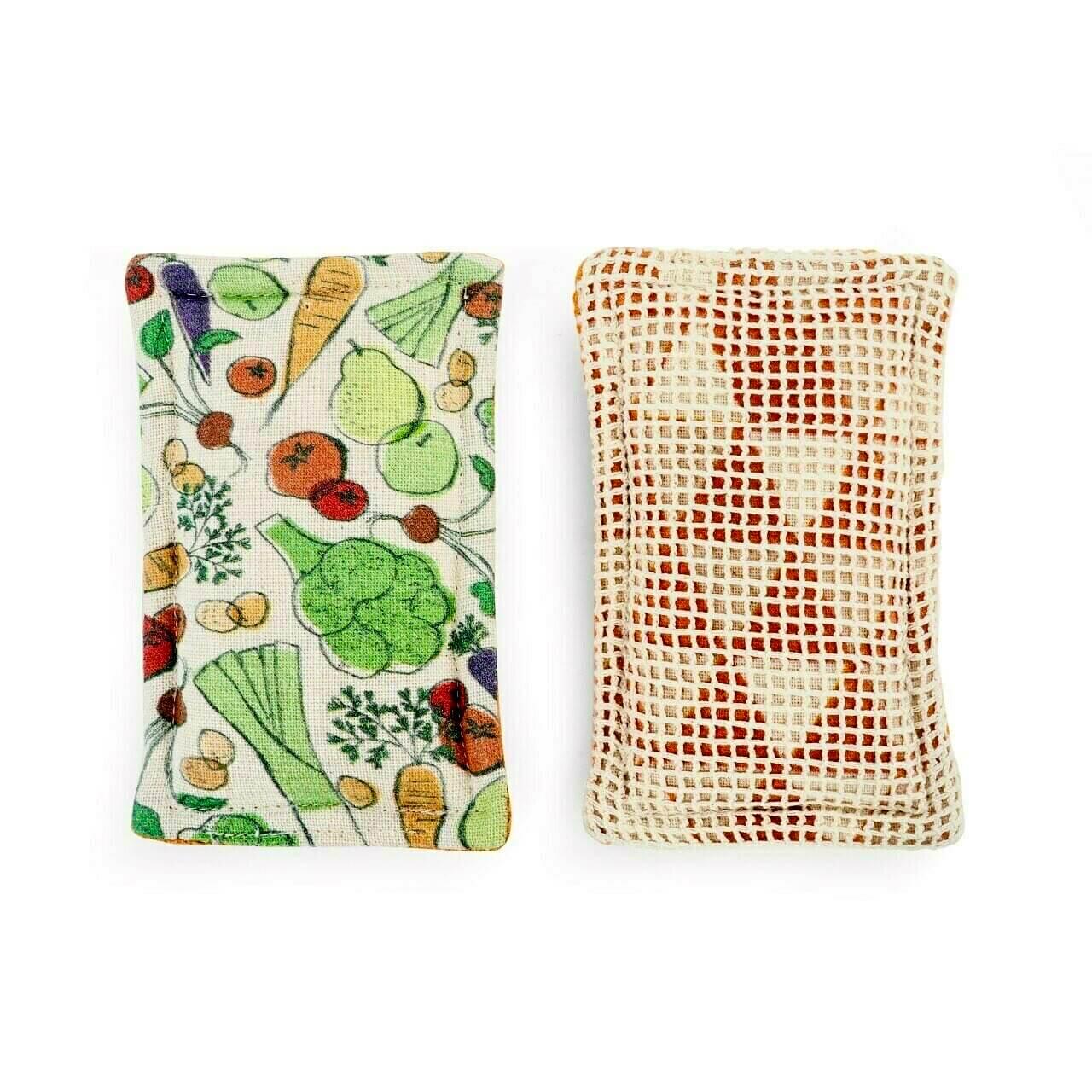 Veggies Reusable Kitchen Sponge Set/2