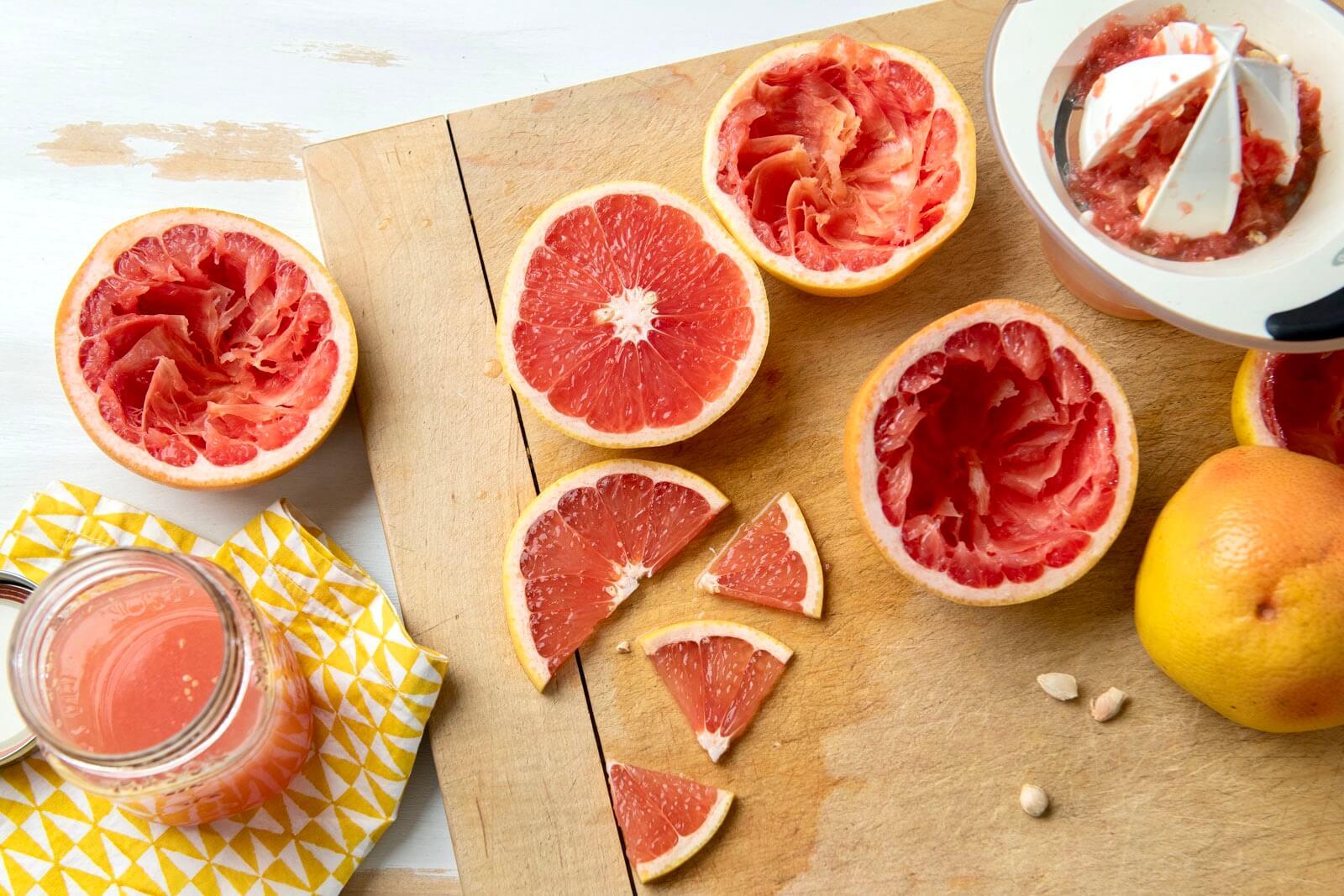 Freshly squeezed grapefruit juice