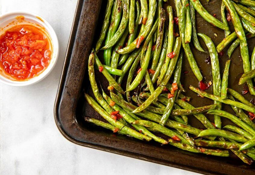 A singular condiment adds culinary magic to simply roasted vegetables, in this case, transformingbasic green beans into a restaurant-worthy side dish. Best part? It takes less than 15 minutes start to finish!