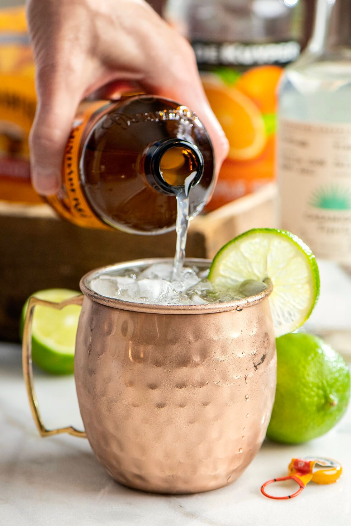 A cross between the classic Moscow mule and the much-loved Margarita, this refreshing cocktail may just become the drink of the season!