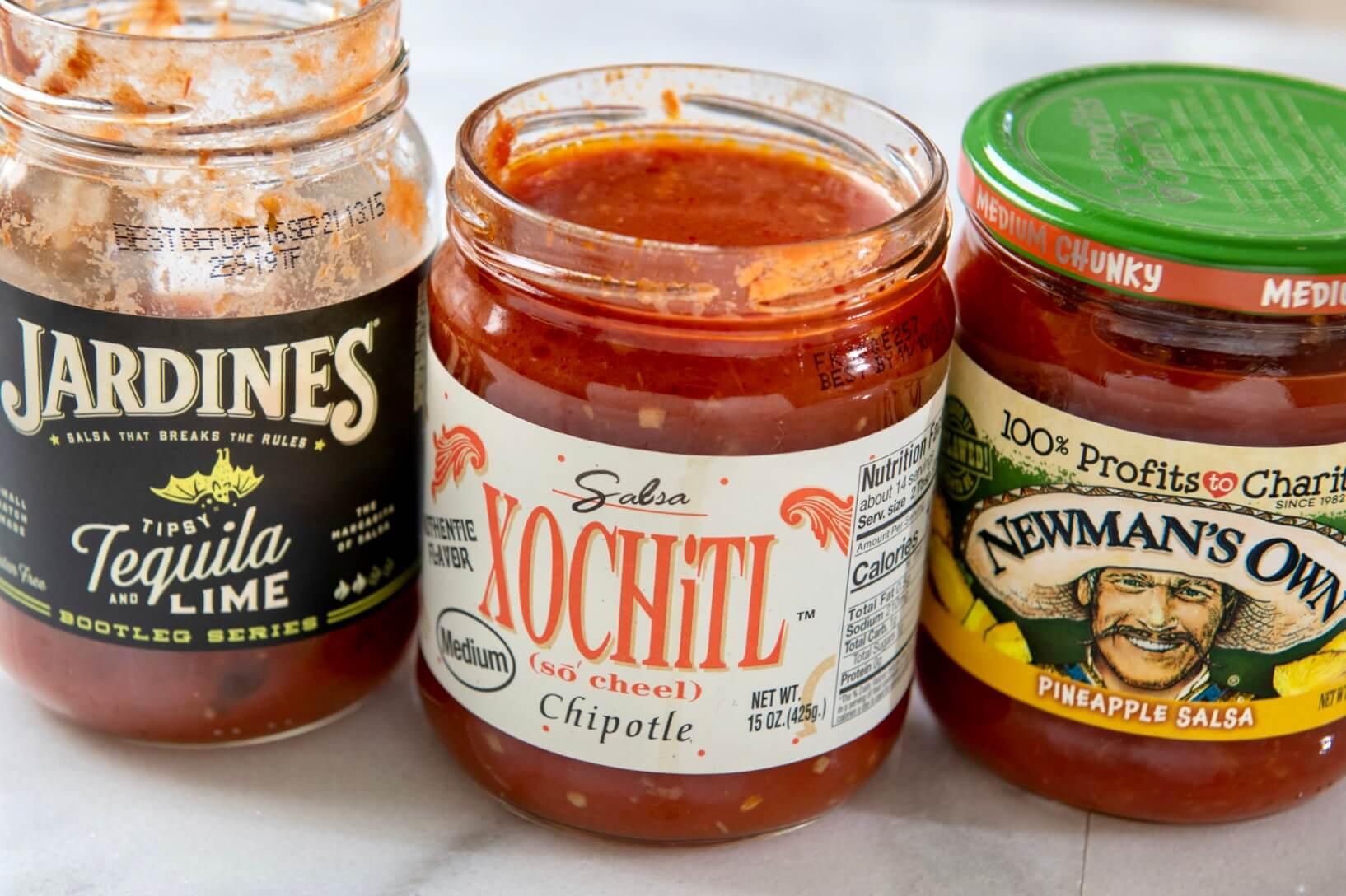 Salsa serves as a base for the easy, customizable sauce.