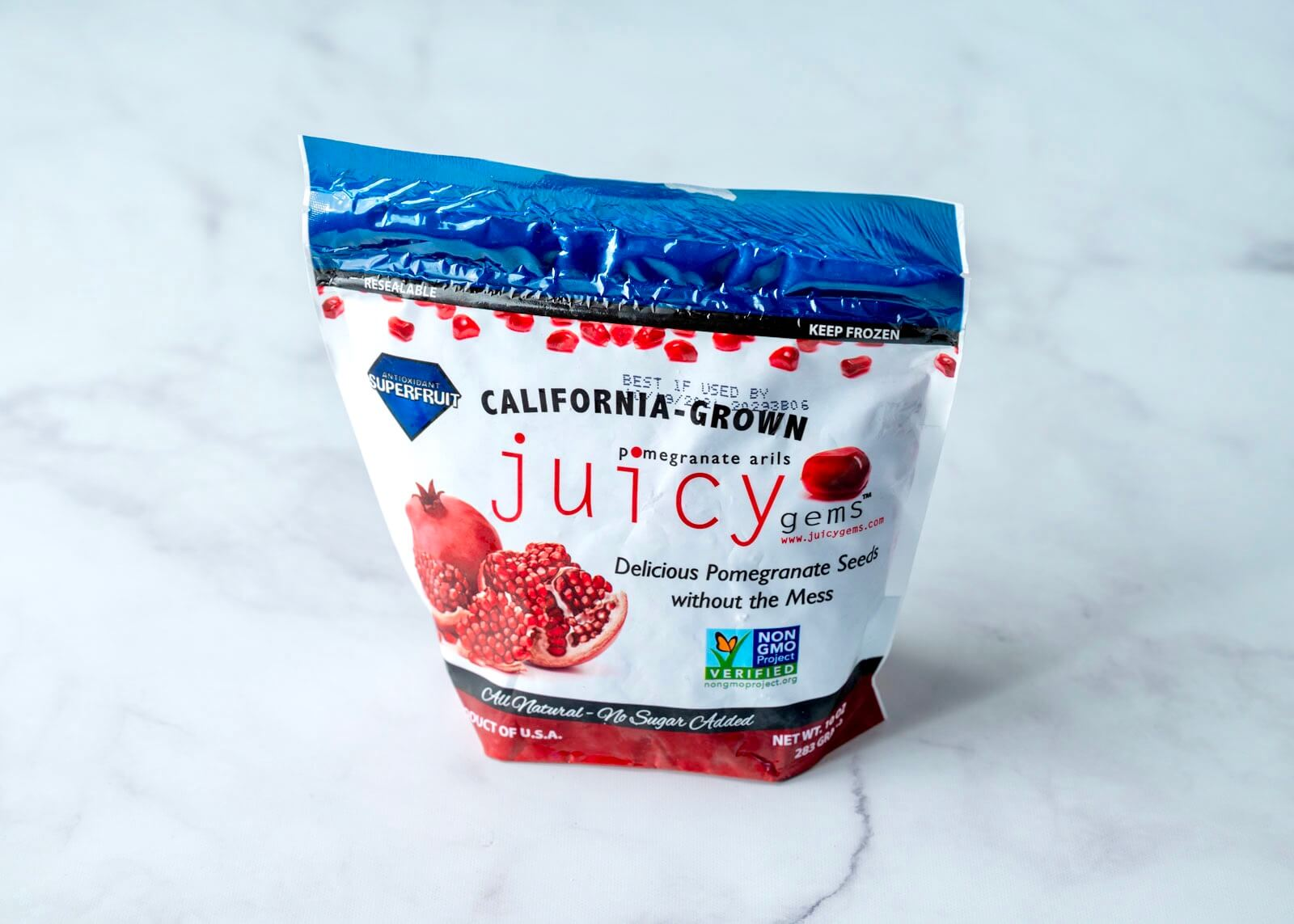 Frozen pomegranate offers an easy, mess-free alternative to extracting the juicy arils from the whole fruit yourself. It's also a convenient alternative when fresh isn't in season.