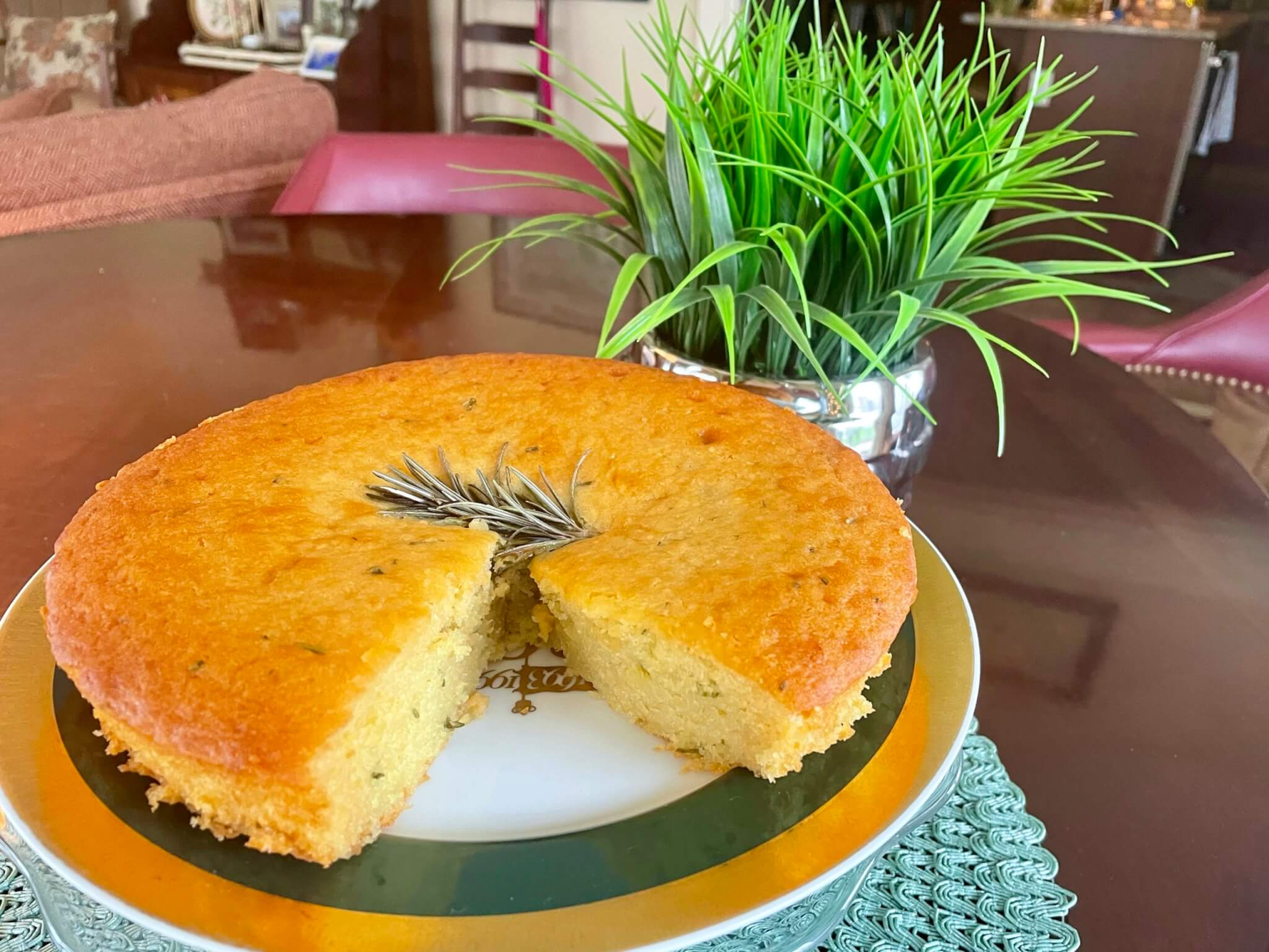 This humble cake expertly balances sweet, savory, tangy, and herbal notes into a lovely treat that's suitable for breakfast, dessert, or a tea-time snack!