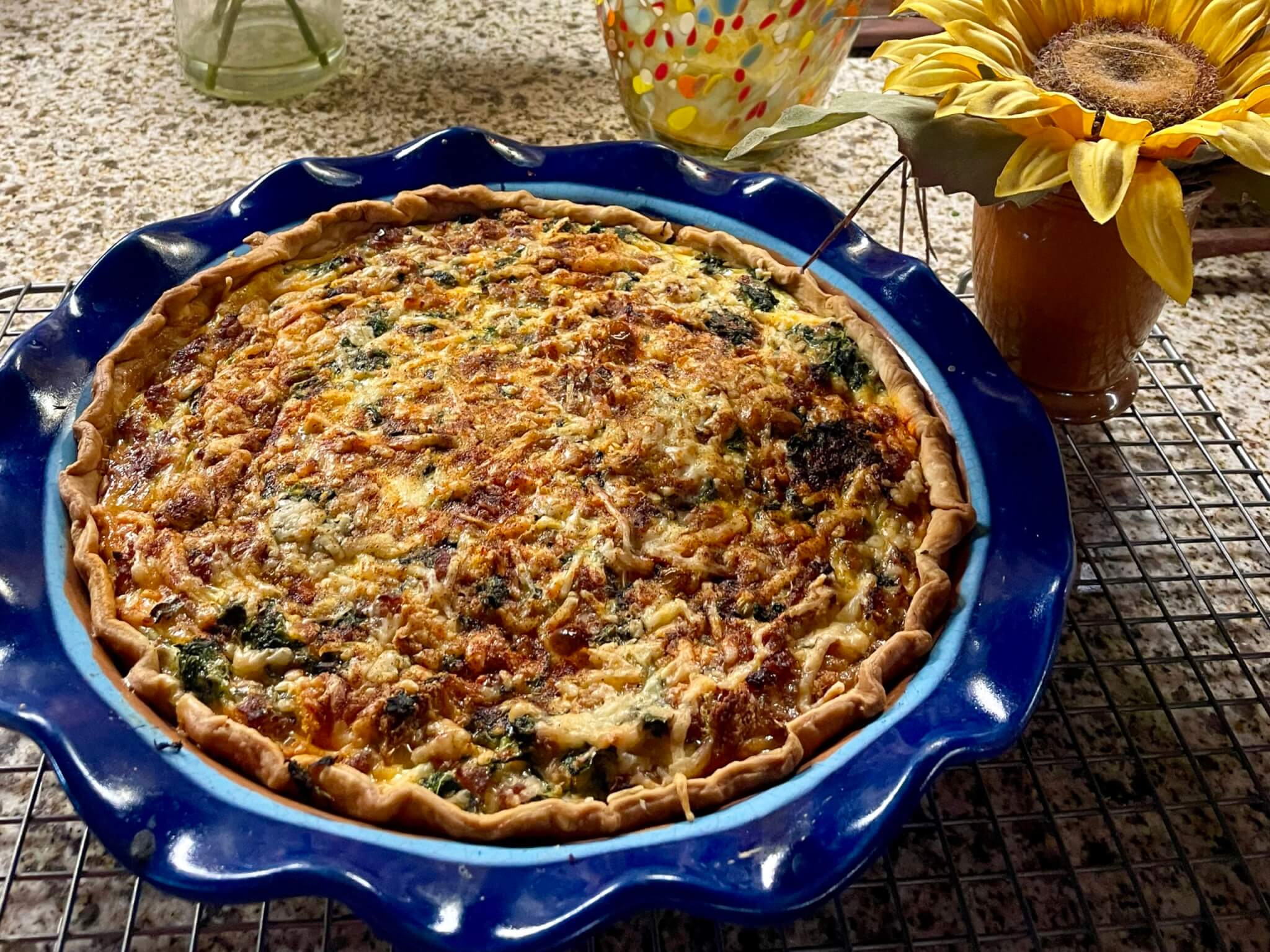 This recipe is conveniently written so you can make one quiche now and freeze half of the filling for an effortless meal another night. Or you can make both at the same time. The crowd-pleasing recipe is also ideal when you'd like to take a meal to a friend in need.