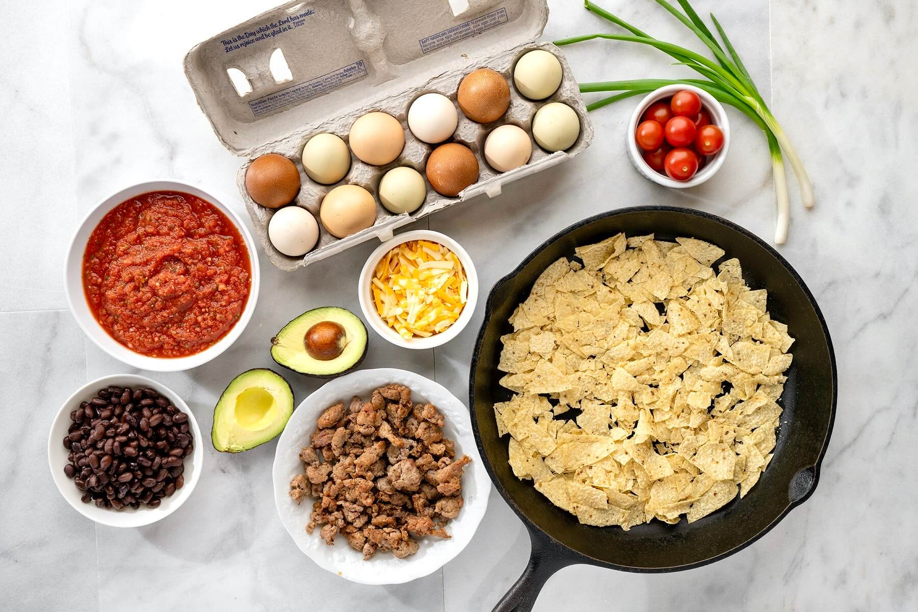 Protein-rich eggs and black beans pair with a handful of Tex-Mex staples in this versatile, satisfying, one-pan meal that can be enjoyed any time of day!