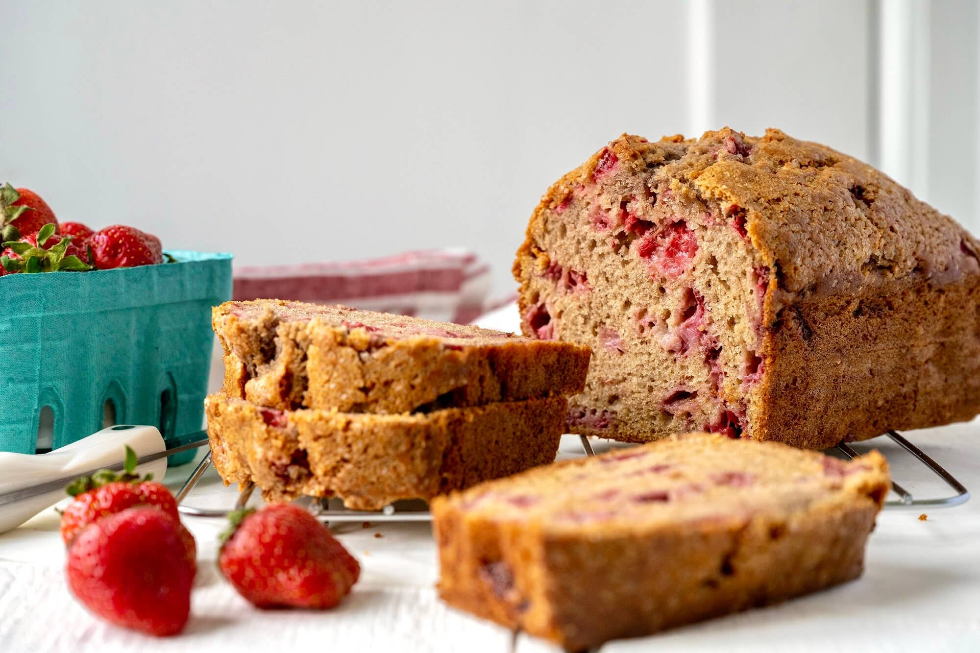 This generously sized quick bread is lightly sweet with a delicate crumb and may just become a seasonal favorite!