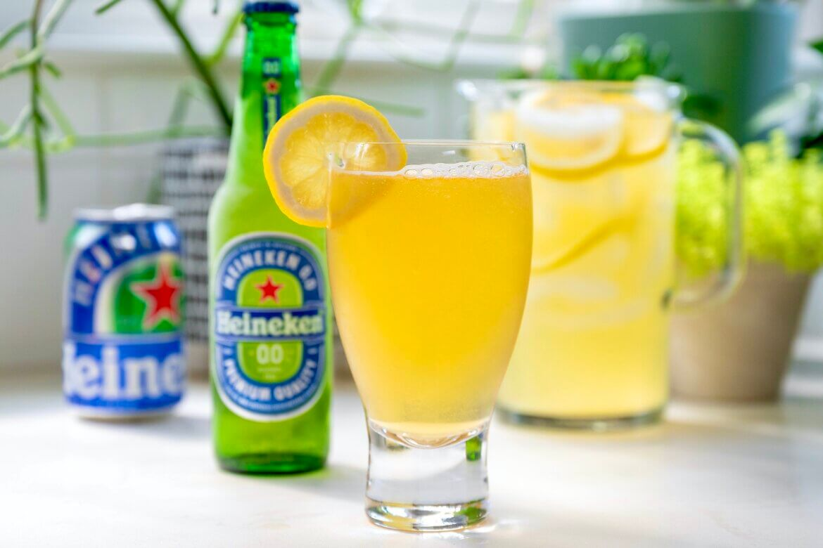 Equal parts light beer and lemonade make for the easiest drink and can be modified in several delicious ways. Mildly sweet with a hint of tang and so very refreshing!