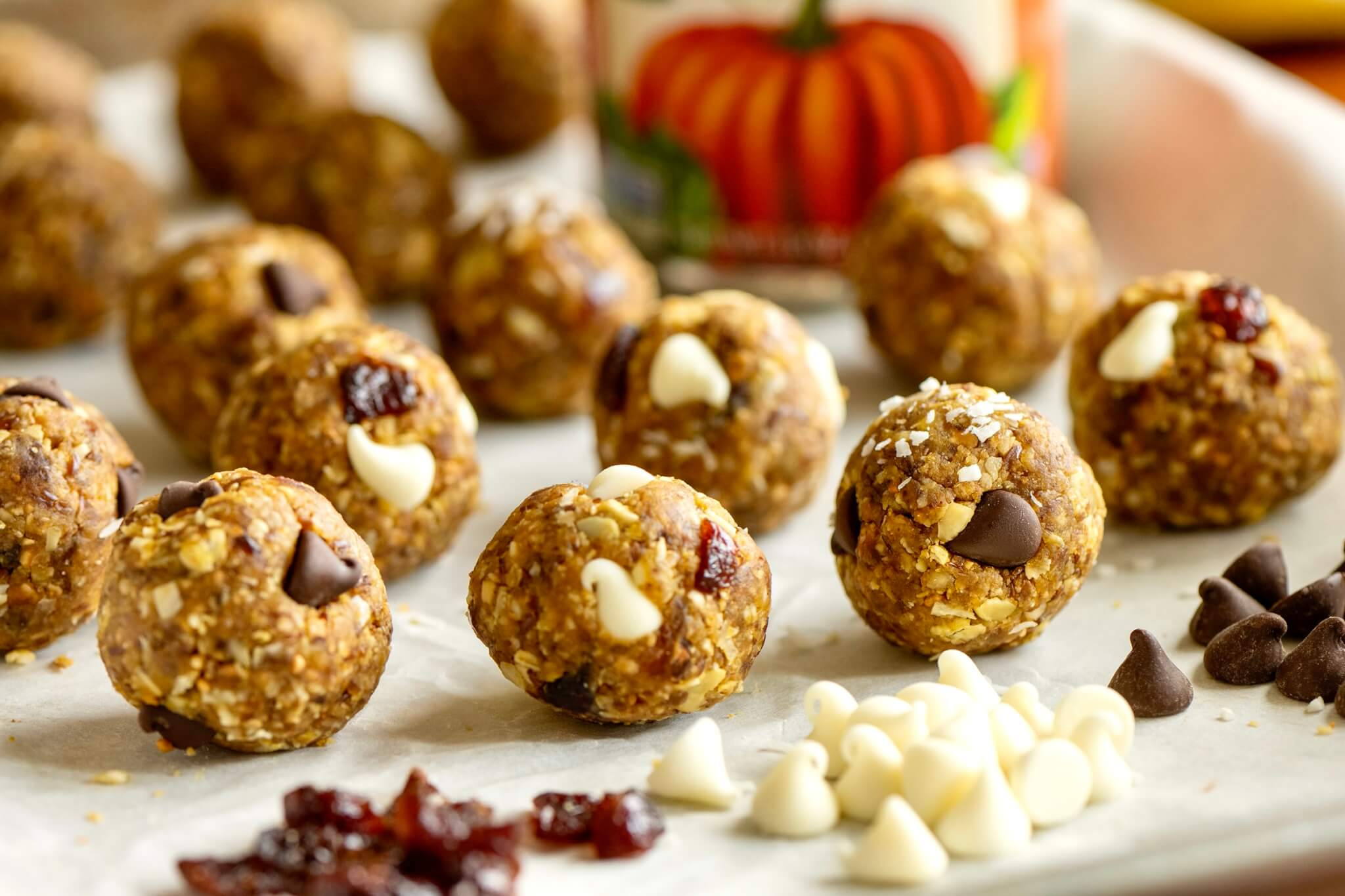 Capture the flavors of the season with these no-bake, satisfying bites that come together quickly and offer an option with zero added sugars or syrups.